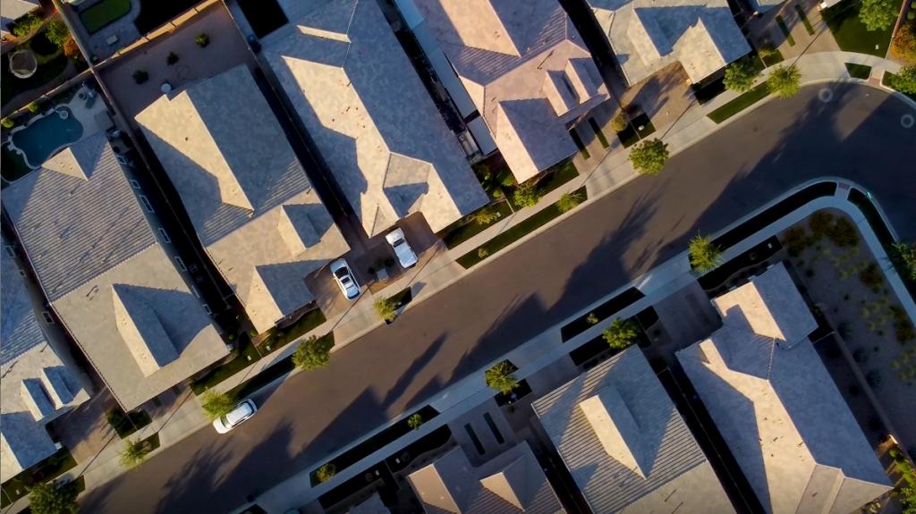 Neighborhood in Mesa Arizona from above